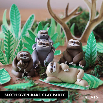 Kids Sloth Oven-Bake Clay Party