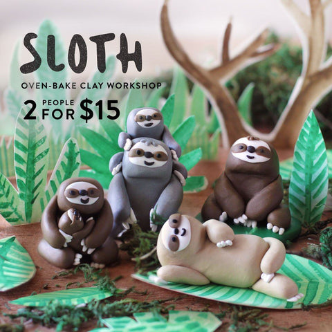 Sloth Oven Bake Clay Workshop