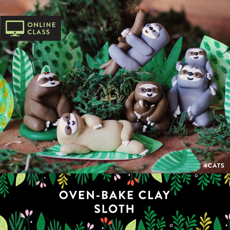 Sculpt a Sloth Kit with Online Tutorial