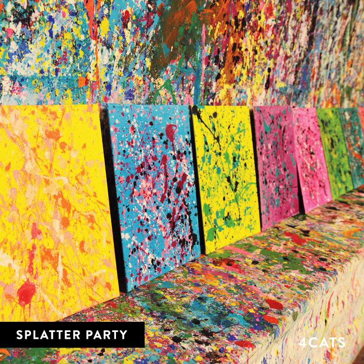 kids acrylic painting and splatter painting parties 4cats com