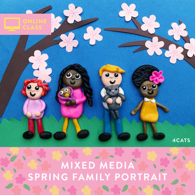 Spring Family Portrait with Online Tutorial
