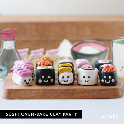 Kids Sushi Oven-Bake Clay Party
