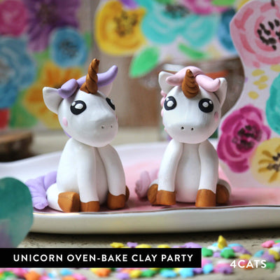 Kids Unicorn Oven-Bake Clay Party