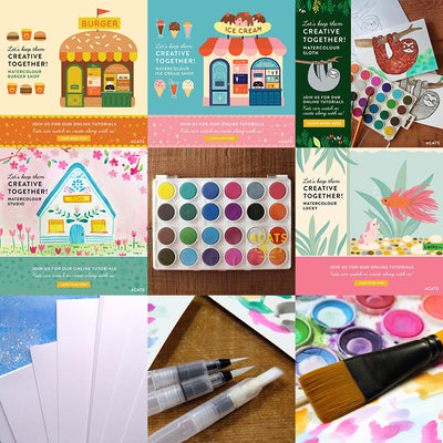 All Watercolour Online Classes with Kit