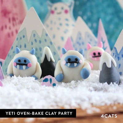 Kids Yeti Oven-Bake Clay Party