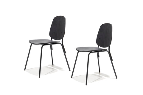 Set 2 Silla Aula Black