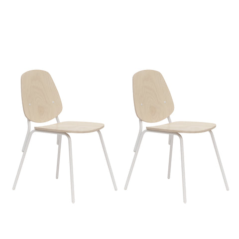 SILLA ESCOLAR- ESTANDAR COLOR PINO NATURAL 47 X 57 X 83CM - SET X 2 UNIDADES