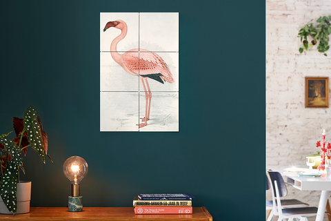 Mural Flamingo Fever doble cara