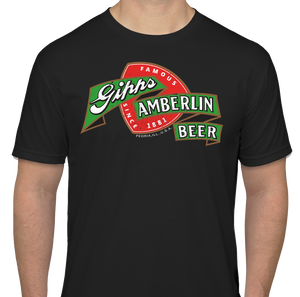 "Black Gipps Amberlin Beer ""Famous Since 1881"" Vintage Style T-Shirt"