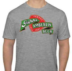 "Gray Gipps Amberlin Beer ""Famous Since 1881"" Vintage T-Shirt"