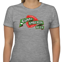 "Gray Ladies Cut Gipps Amberlin Beer ""Famous Since 1881"" Vintage T-Shirt"