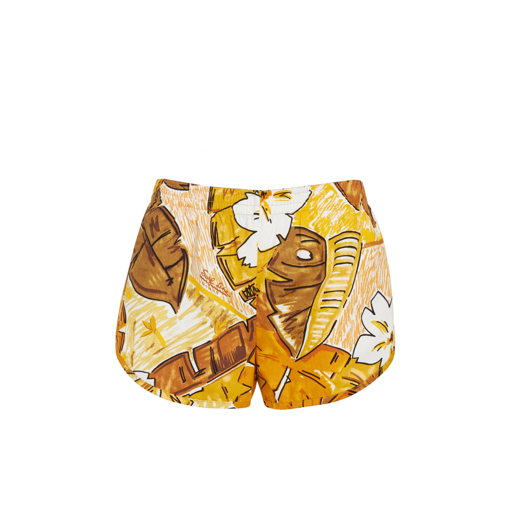 Women's Tiki Leaf Cheeters Shorts - Surf Line Hawaii