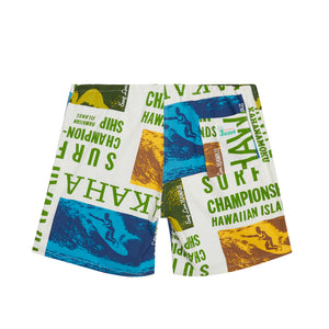 Men's Original Jams Shorts- Surf Contest White - Surf Line Hawaii