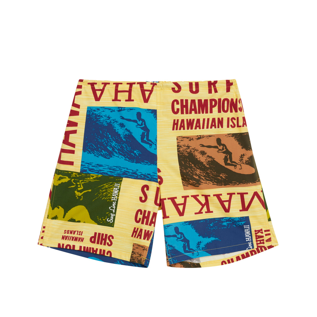 Men's Original Jams Shorts- Surf Contest Yellow - Surf Line Hawaii