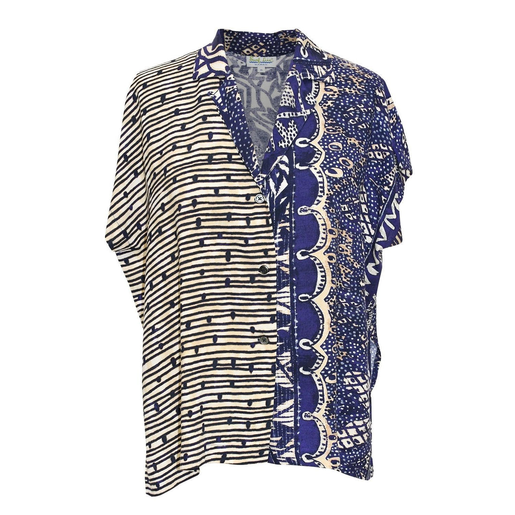 Women's Rayon Top - Purple & Navy