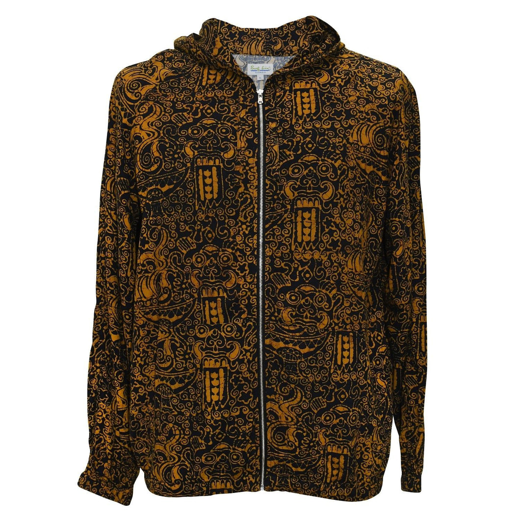 Parka Rayon Jacket - Black & Gold