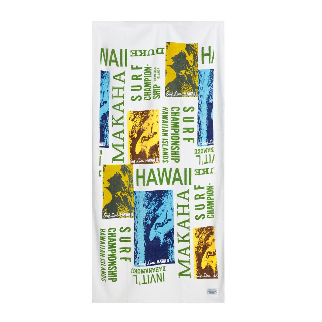 Surf Contest Hawaii Towel - Surf Line Hawaii