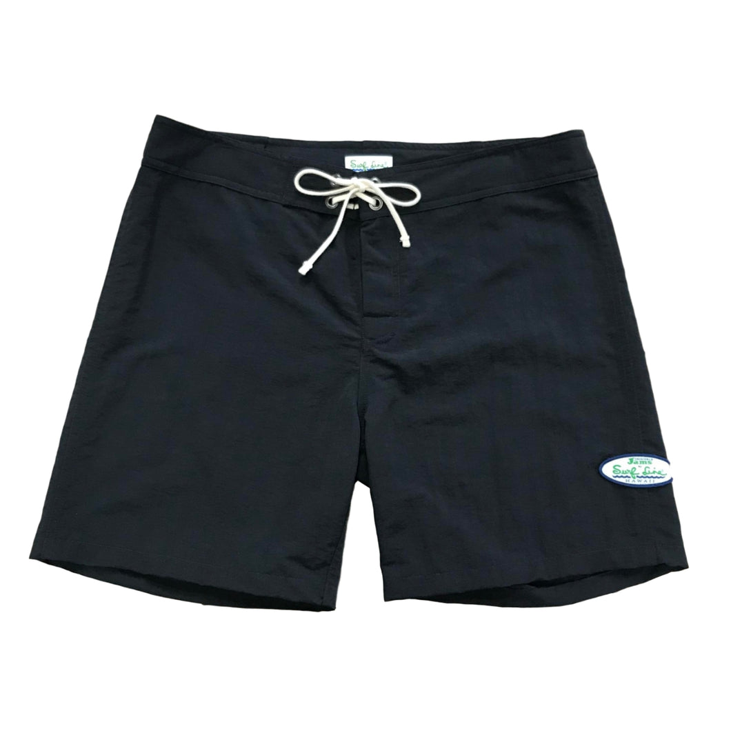 Men's Solid Black Boardshorts - Surf Line Hawaii