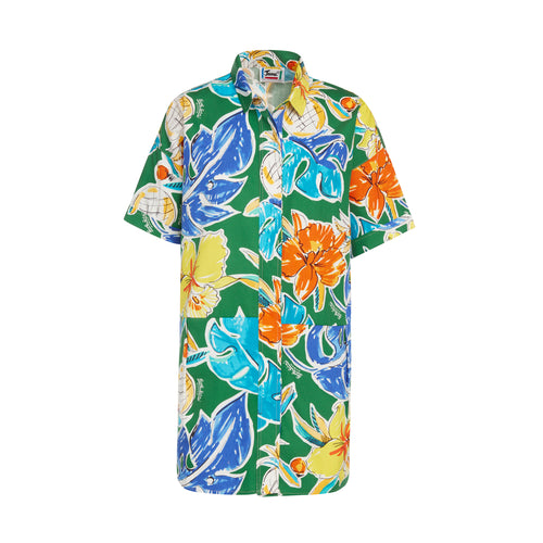 Women's Pineapple Shirt Dress - Surf Line Hawaii