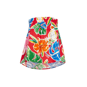 Women's Pineapple Hibiscus Red Tube Top - Surf Line Hawaii