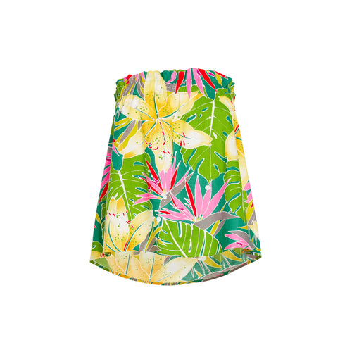 Women's Tropical Green Tube Top - Surf Line Hawaii