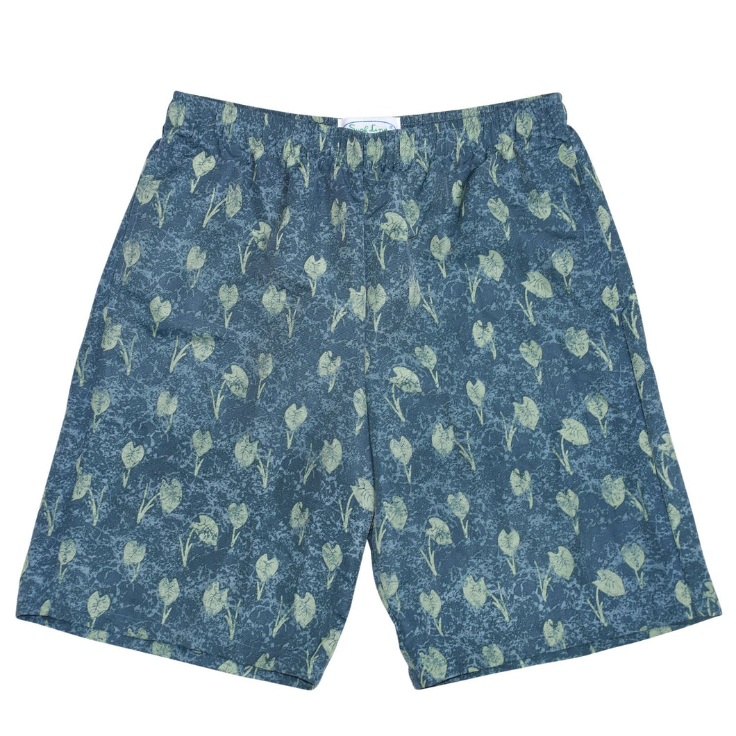 Men's Nylon Super Jams - Taro Leaves Green - jamsworld.com