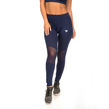 First Edition Tech-Dry Women's Blue Leggings - FITFAM