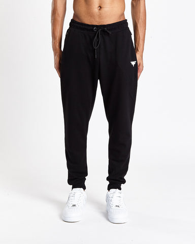 Tech-Dry Black Track Bottoms - FITFAM