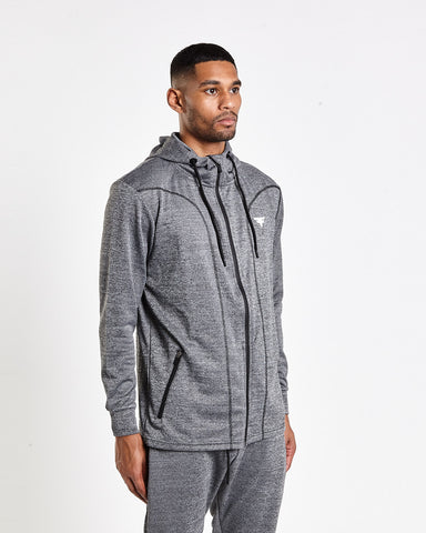 Tech-Dry Grey Track Top - FITFAM