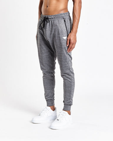 Tech-Dry Grey Track Bottoms - FITFAM