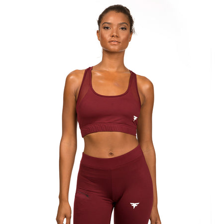 FitFam First Edition Tech-Dry Women's Burnt Russet Bra - FITFAM