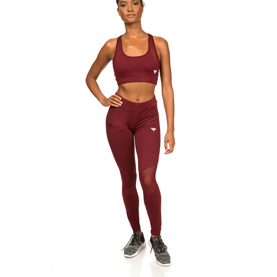 FitFam First Edition Tech-Dry Women's Burnt Russet Leggings - FITFAM