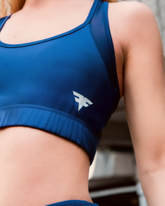 FitFam First Edition Tech-Dry Women's Blue Bra - FITFAM