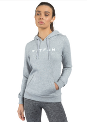 Essential Hoodie Heather Grey - FITFAM