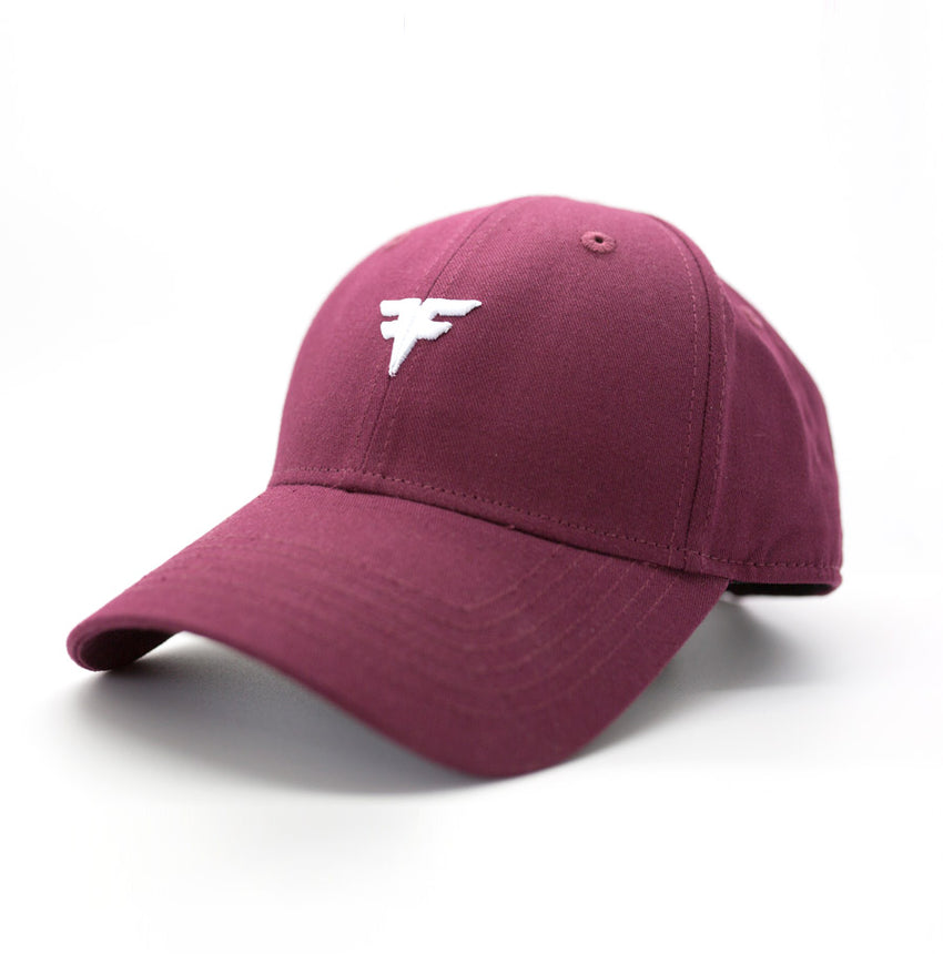 FitFam Adjustable Cap In Maroon