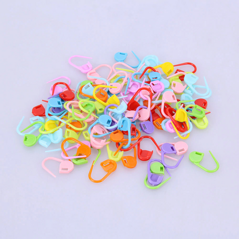 100 Pcs Needle Clip Knitting Craft Stitch Crochet Tool Copper Markers Locking