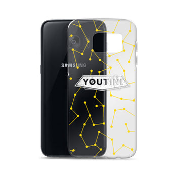 Clear Galactic Night Samsung Case - Yellow