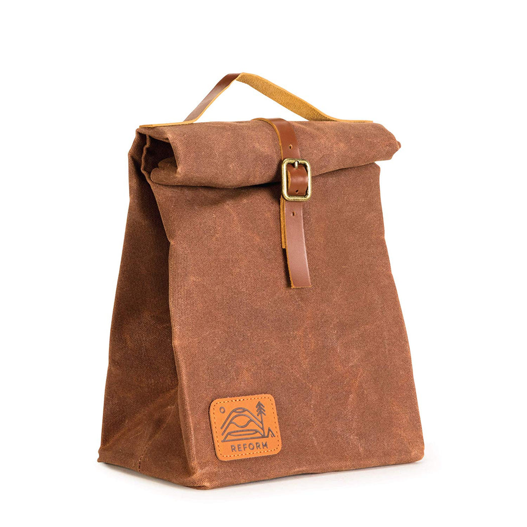 Reusable Waxed Canvas Insulated Lunch Bag