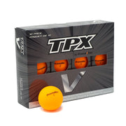 TPX V Matte Finish Orange Golf Balls - 12Pk