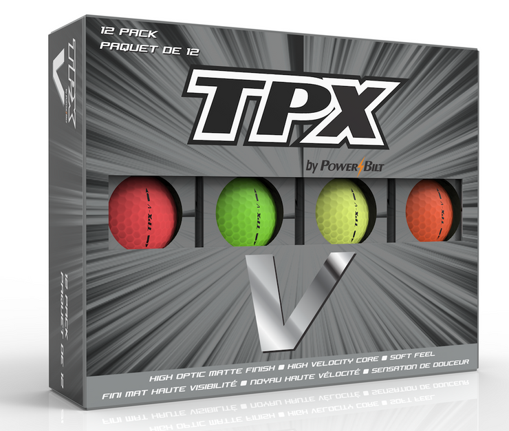 TPX V Matte Finish Mixed Golf Balls - 12Pk