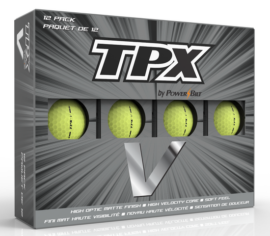 TPX V Matte Finish Yellow Golf Balls - 12Pk