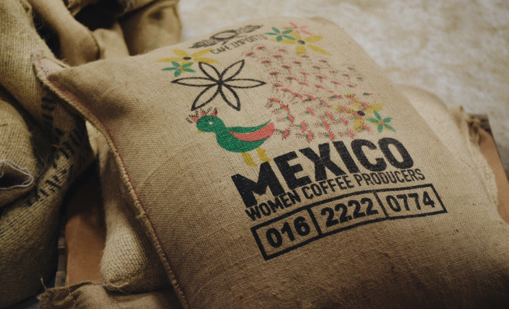 Women coffee producers bag