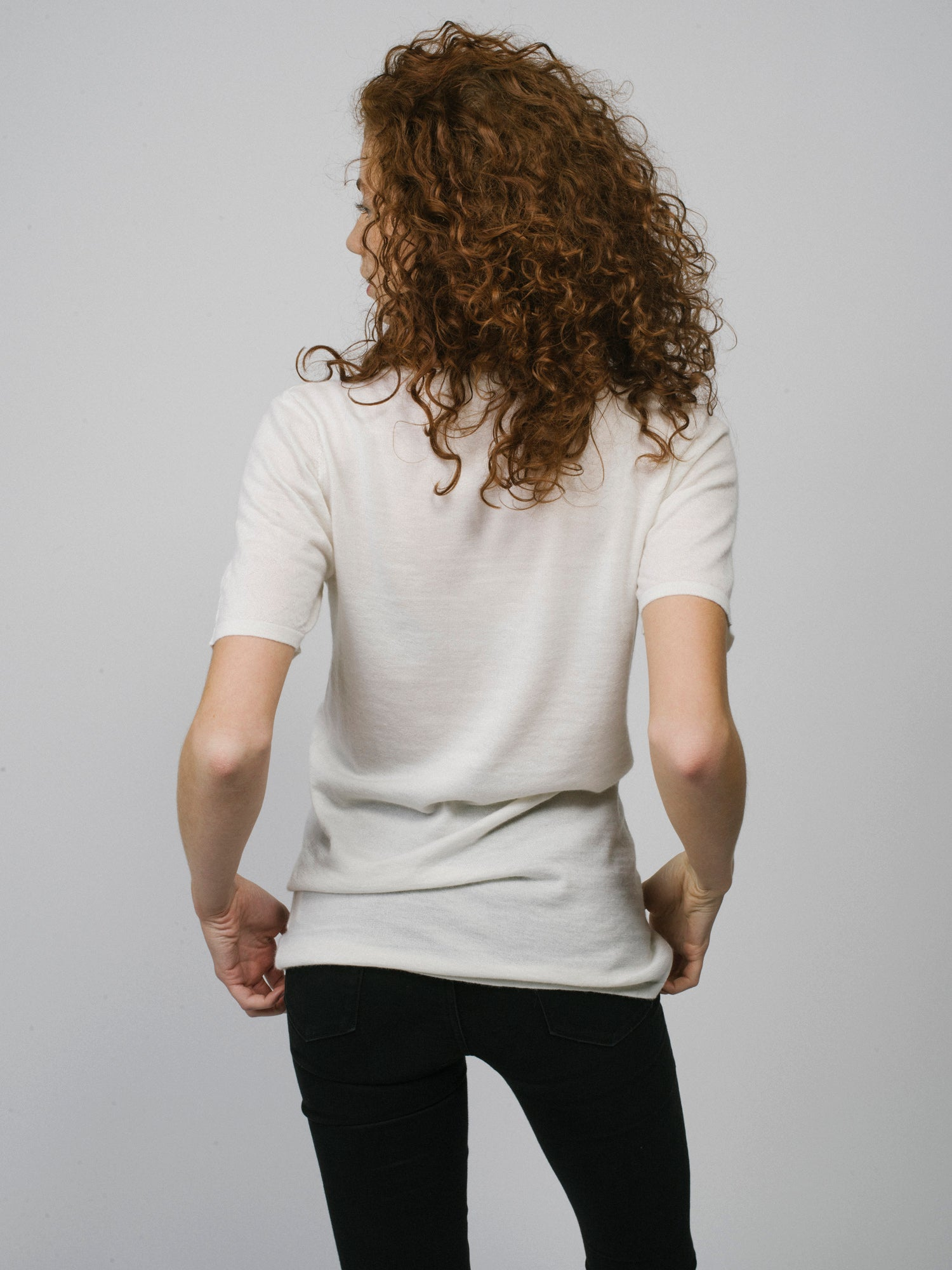 100% Cashmere T-Shirt - Women's Off White