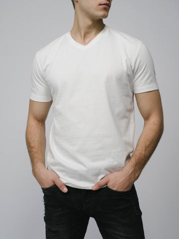 Pima Cotton Slim V-Neck