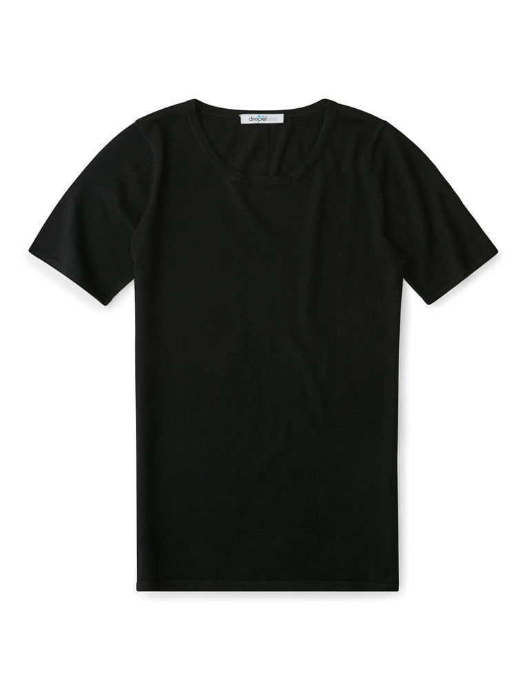 100% Cashmere T-Shirt - Women's Black