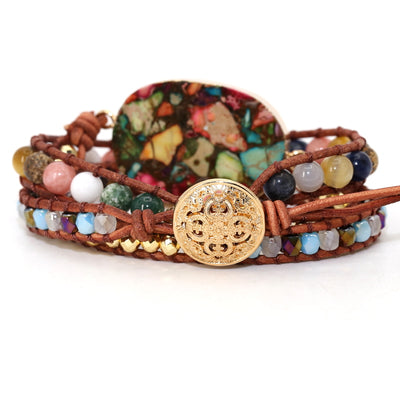 Boho Mixed Natural Rhinestone Bracelet