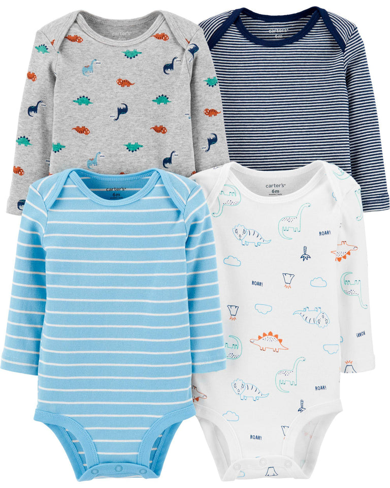 4-Pack Dinosaur Original Bodysuits Carter's