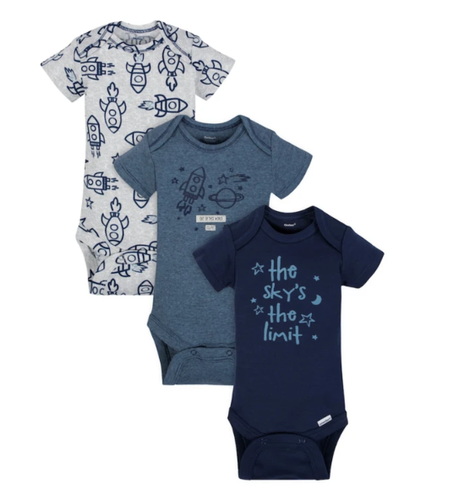 Kit Bodys Baby Boys Foguete manga curta