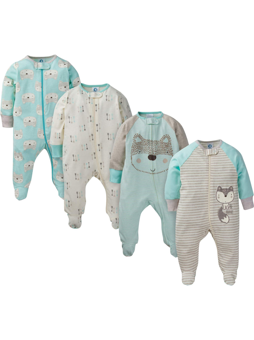 Kit Baby Boy Zip Up Sleep 'N Play 4-Pç  - Encomenda