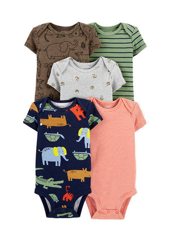 Kit body Baby Boys 5 Pç Safari Carter's